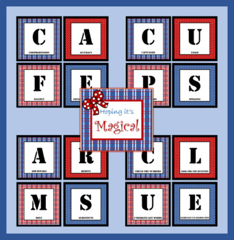 Classroom Bundle~ CAFE, ARMS, CUPS, CLUE Bulletin Board Display
