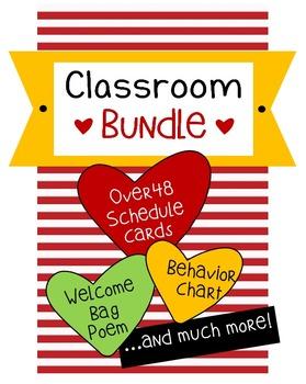 Classroom Bundle Heart Theme