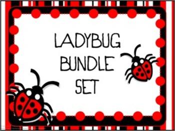 Classroom Bundle- Ladybug (red)