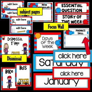 Whimsical Theme ~ Class Bundle - Editable