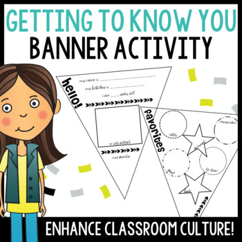 Classroom Bunting Craftivity - Great Icebreaker!