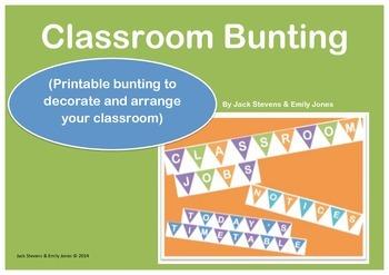 Classroom Bunting for Classroom Setup & Decoration {organisation, organization}
