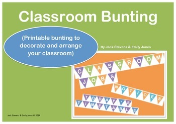 Classroom Bunting for Classroom Setup & Decoration {organi