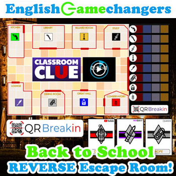 Classroom CLUE Back to School REVERSE Escape Room: Break IN to ANY Class!