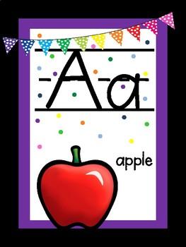 Classroom COLOR Decor - Alphabet Letters