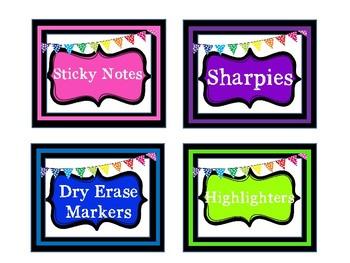 Classroom COLOR Labels - Editable