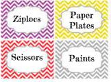 Classroom Cabinet Labels