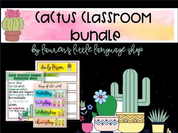 Classroom Cactus Bundle