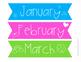 Classroom Calendar Set {Bright and Cheerful}