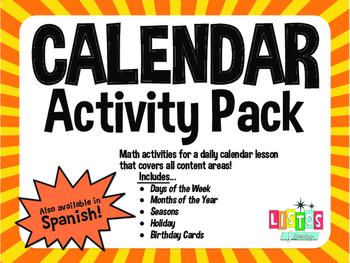 CALENDAR Activity Pack