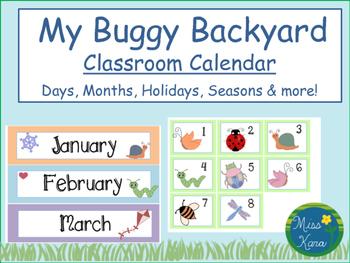 Classroom Calendar: My Buggy Backyard
