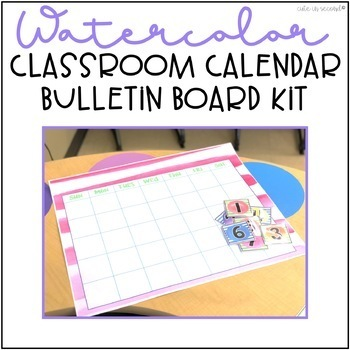 Classroom Calendar Bulletin Board Kit Watercolor