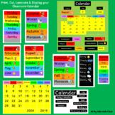 Classroom Calendar - Bulletin Board Set - Back to School