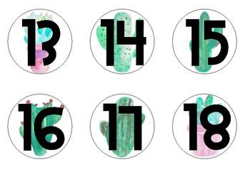 Classroom Calendar Bundle - Cactus Theme