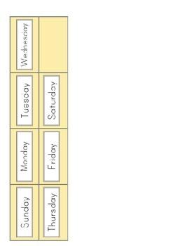 Classroom Calendar- Buttercup Yellow and Gray