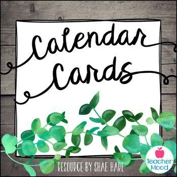 Classroom Calendar Cards {Southern Charm} Morning Meeting Farmhouse Decor