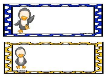 Classroom Calendar Decor- Penguins Theme!