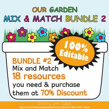 Classroom Calendar Decoration in Flower & Bugs Theme - 100% Editable