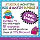 Classroom Calendar Decoration in Studious Monsters Theme - 100% Editble