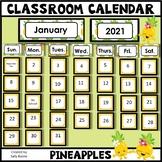Classroom Calendar Editable - Pineapple Theme