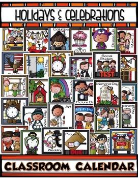 Classroom Calendar HOLIDAYS & CELEBRATIONS Cards
