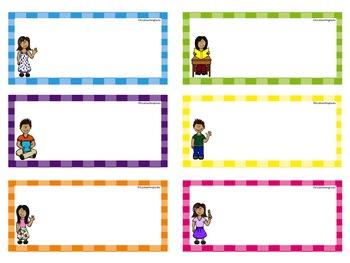 Classroom Calendar Labels - EDITABLE USA