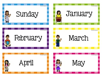 Classroom Calendar Labels EDITABLE USA