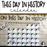Classroom Calendar Numbers | This Day in History