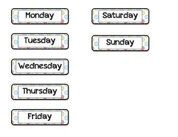 Classroom Calendar Pack