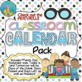 Classroom Calendar Pack (Pastel Polka Dots Theme)