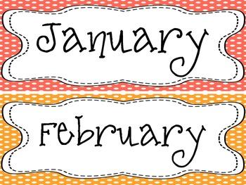 Classroom Calendar Polka Dot