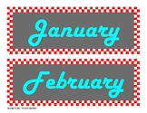Classroom Calendar - Retro Diner Style