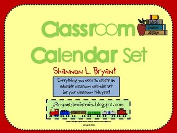 Classroom Calendar Set