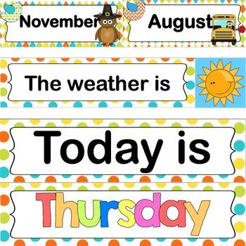 Classroom Calendar Set (Bird Theme)