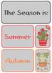 Classroom Calendar Set - Cactus Theme