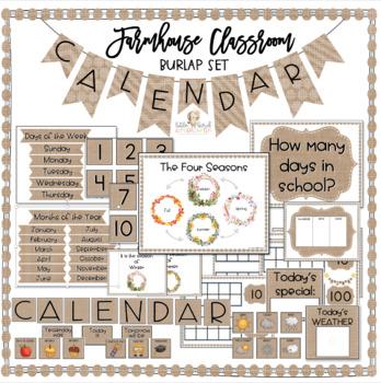 Classroom Calendar Set / Calendar Kit / Farmhouse Decor ...