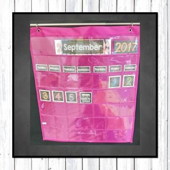 Farmhouse Classroom Calendar Set: Chalkboard and White Wood