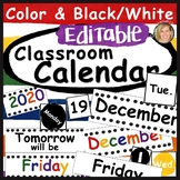 Classroom Calendar Set Editable- Calendar Numbers, Days, Months, Years Primary