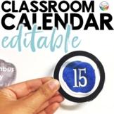 Classroom Calendar Set | WATERCOLOR | Editable | Rainbow C