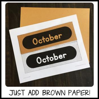 Classroom Calendar Set - Grayscale Burlap Texture