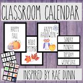Classroom Calendar Set - (Rae Dunn Inspired Classroom) - *