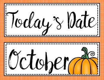 Classroom Calendar Set Upper Grades