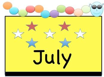 Classroom Calendar Set with Days, Months, Dates