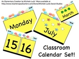 Classroom Calendar Set with Days, Months, Dates