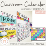 Classroom Calendar & Weather Display | Tropical Theme