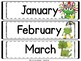 Classroom Calendar and Rules with Frogs