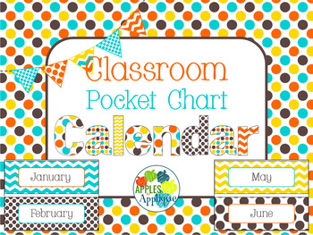 Pocket Chart or Linear Calendar in Candy Colors Theme