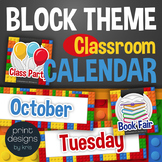 Classroom Calendar with Holidays, Subjects, Months, Days i