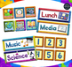 Classroom Calendar with Holidays, Subjects, Months, Days in PLAY DOUGH Theme