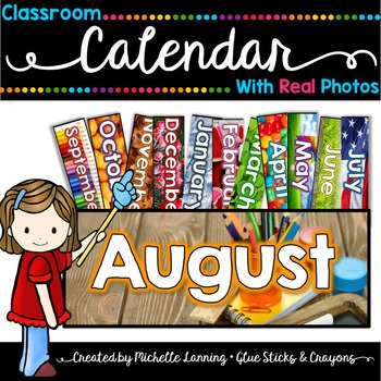 Classroom Calendar with Real Photos